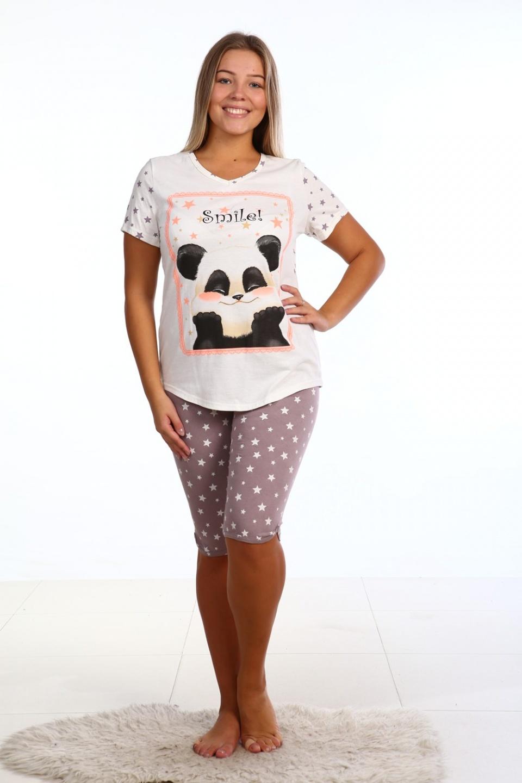 Пижама женская Smile футболка и бриджиДомашняя одежда<br><br><br>Размер: 46