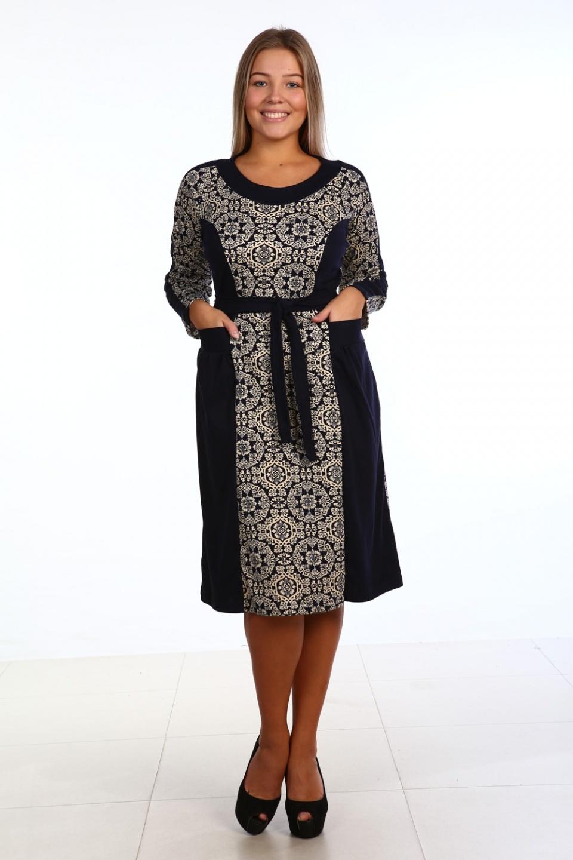 Платье женское с поясом Звезда востока<br><br>Размер: 52