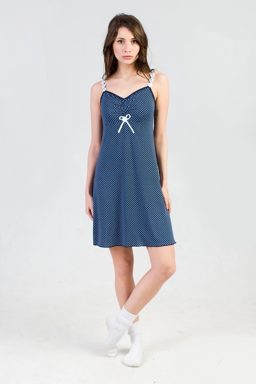 Сорочка женская Мадлен-1 на бретеляхДомашняя одежда<br><br><br>Размер: 48
