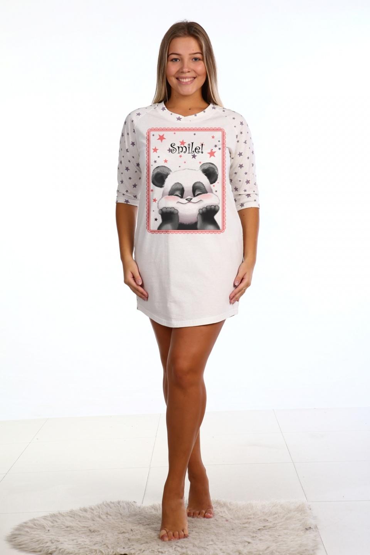 Сорочка женская с 3\4 рукавом Smail!<br><br>Размер: 44