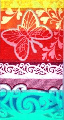 Полотенце махровое Бабочка с сердечками<br><br>Размер: 40x70 см.
