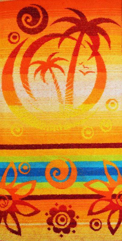 Полотенце махровое Солнечный вальс<br><br>Размер: 40x70 см.
