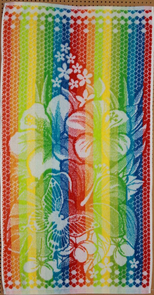 Полотенце махровое Радужное<br><br>Размер: Цветы с бабочкой