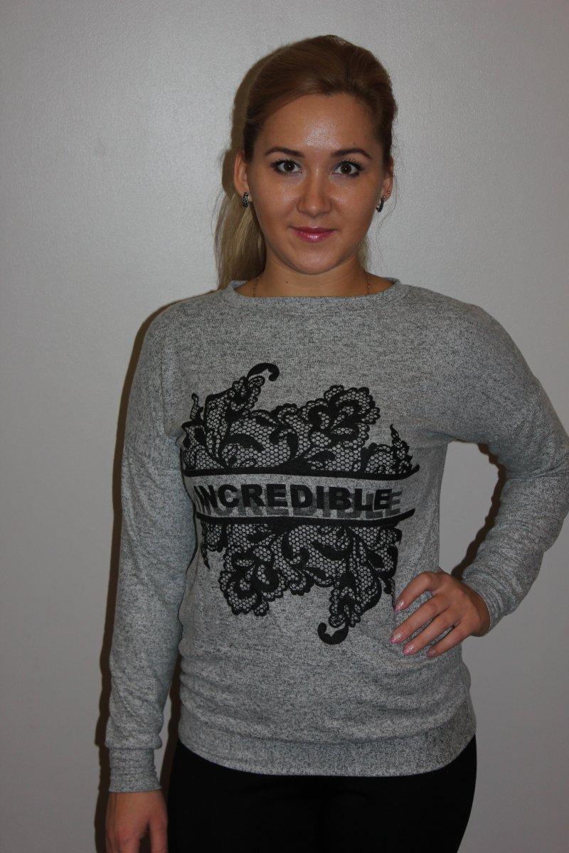 Джемпер женский Incredible с воротником лодочкойДжемперы, свитера<br><br><br>Размер: 48
