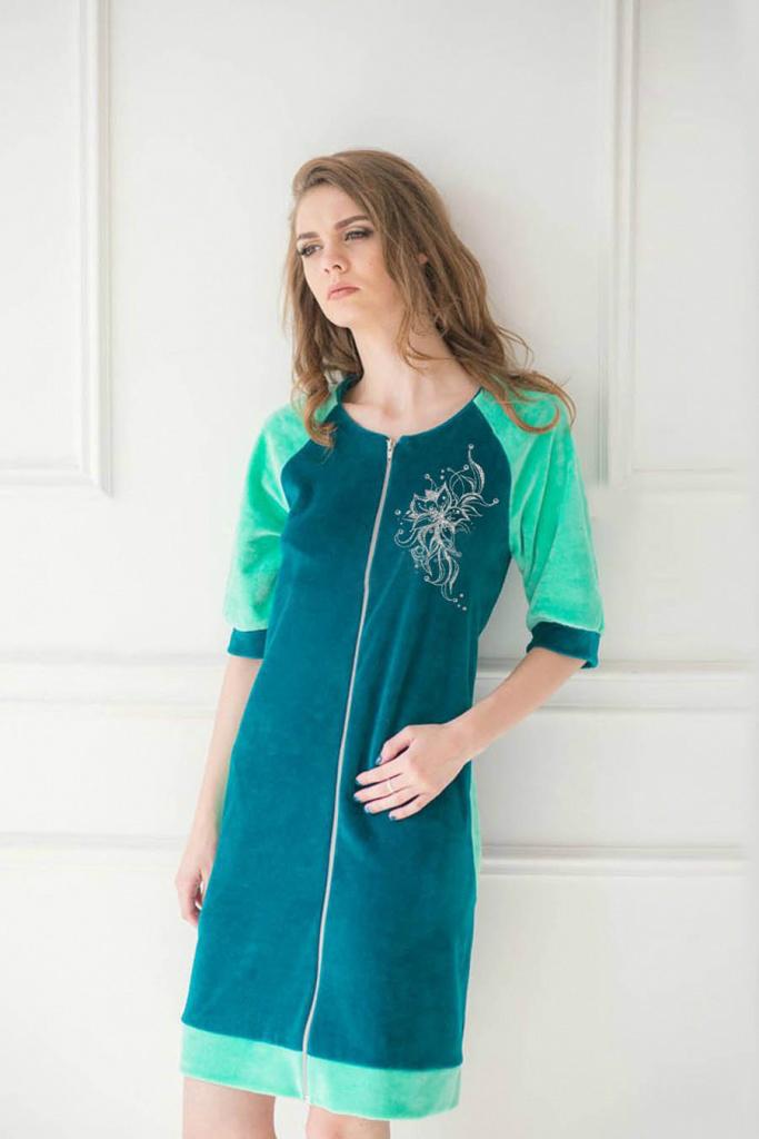 Халат женский Ариэль на молнииДомашняя одежда<br><br><br>Размер: 52