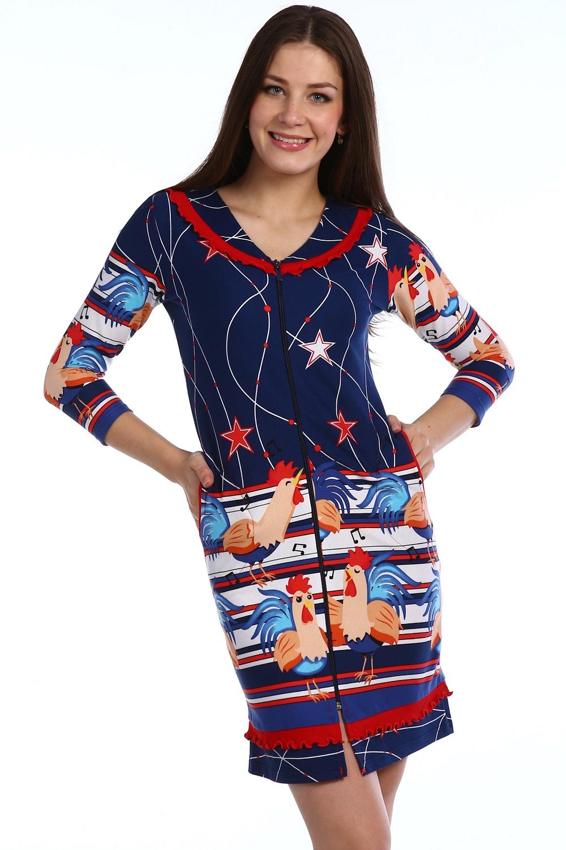 Халат женский Gallo на молнииДомашняя одежда<br><br><br>Размер: 46