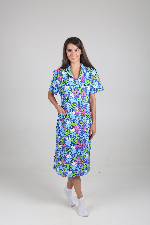 Халат женский Ирина на пуговицахДомашняя одежда<br><br><br>Размер: 60