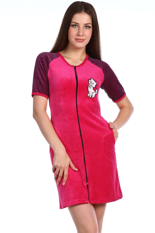 Халат женский Мари на молнииХалаты<br><br><br>Размер: Фиолетовый