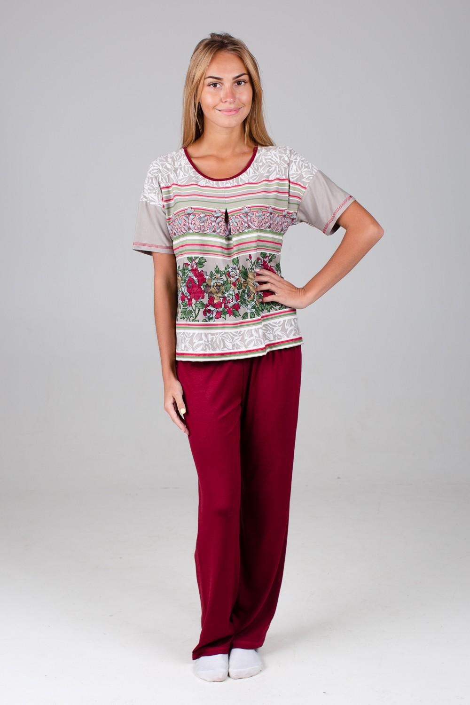 Костюм женский Бьянка-2 блуза и брюкиДомашние комплекты, костюмы<br><br><br>Размер: 46