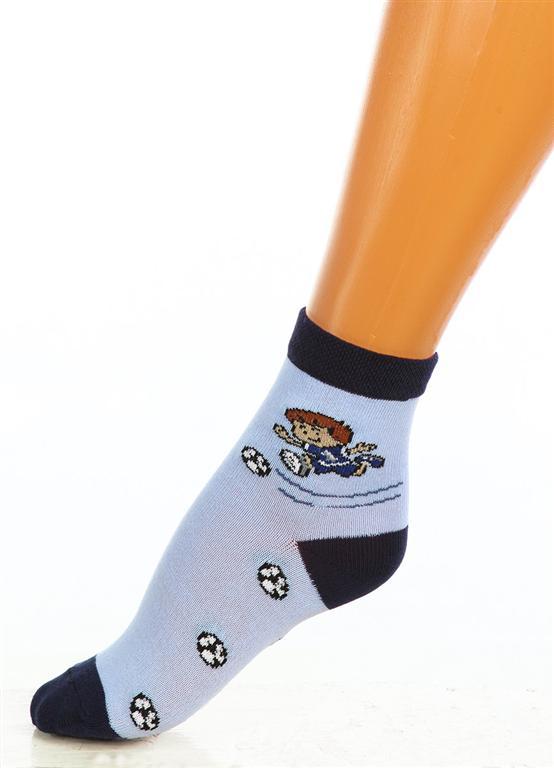Носки детские Футболист для мальчикаНоски, гольфы<br><br><br>Размер: Голубой