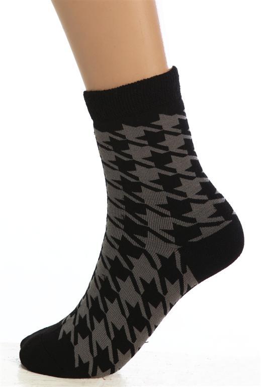 Носки женские Гусиная лапкаНоски<br><br><br>Размер: Черный