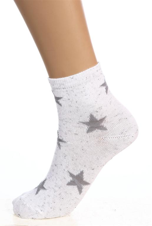 Носки женские ЗвездопадНоски<br><br><br>Размер: Белый
