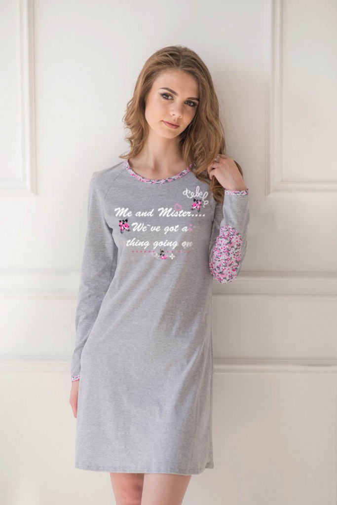 Платье-туника женское Мисси с длинным рукавомТуники<br><br><br>Размер: 48