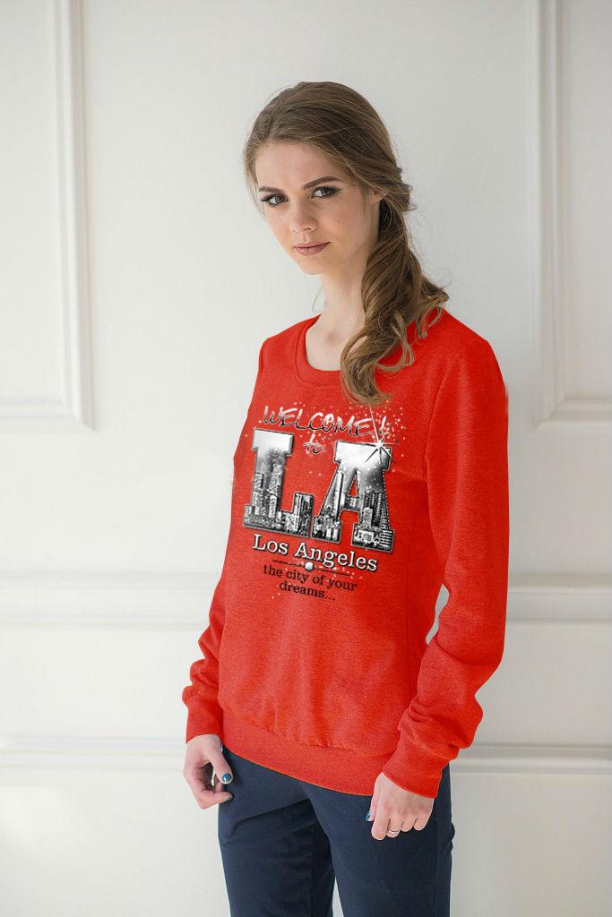 Толстовка женская Los Angeles с круглым вырезомКофты, свитера, толстовки<br><br><br>Размер: 42