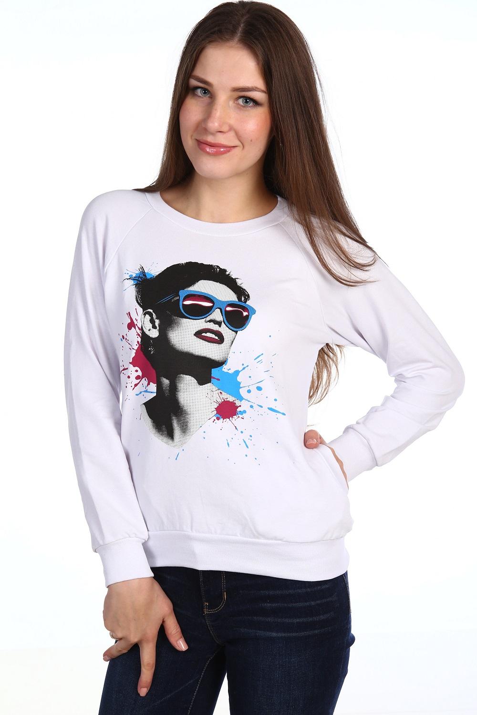 Толстовка женская Скай с круглым вырезомКофты, свитера, толстовки<br><br><br>Размер: 42