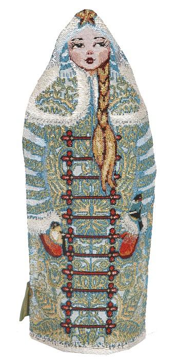 Чехол гобеленовый на бутылку Внучка СнегурочкаСувениры<br><br><br>Размер: 34х38 см