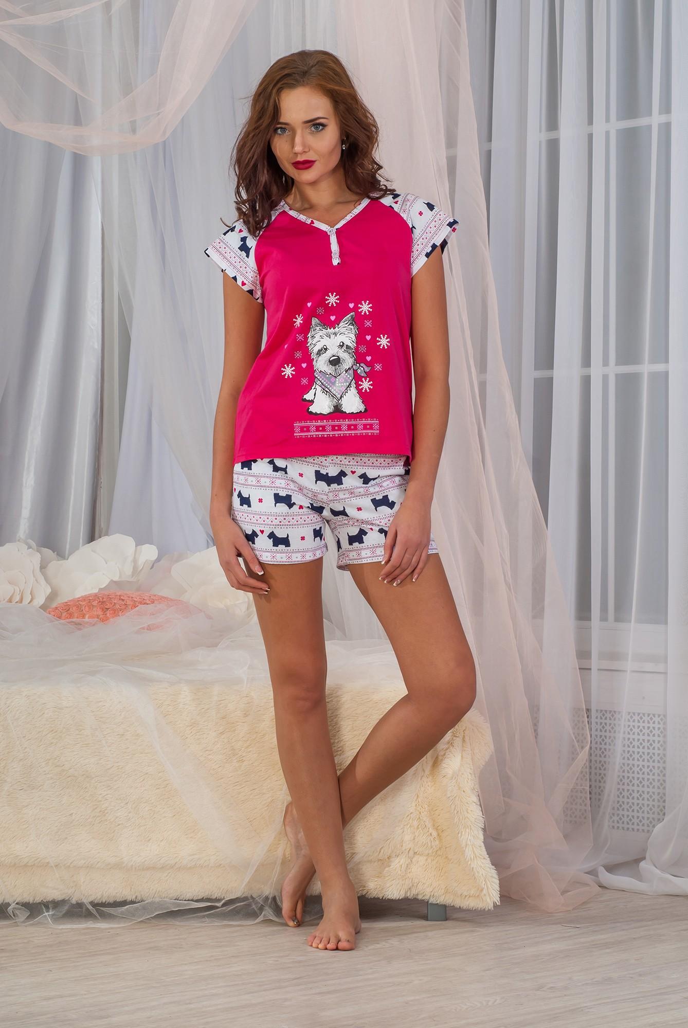 Костюм женский Паппи-2 футболка и шортыДомашние комплекты, костюмы<br><br><br>Размер: Синий