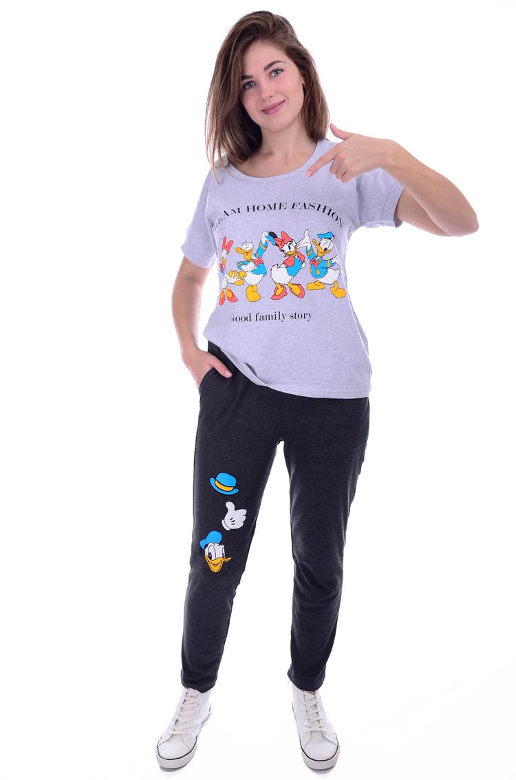 Костюм женский Дакки футболка и брюкиКостюмы<br><br><br>Размер: 50