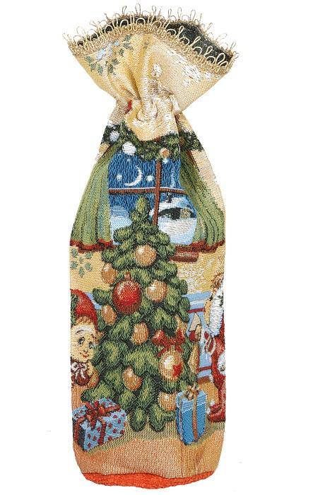 Мешок гобеленовый для подарков ГномикиСувениры<br><br><br>Размер: 35х38 см