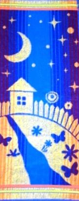 Полотенце махровое Ночка 30х80Подарки на Новый год и Рождество<br><br><br>Размер: 30х80