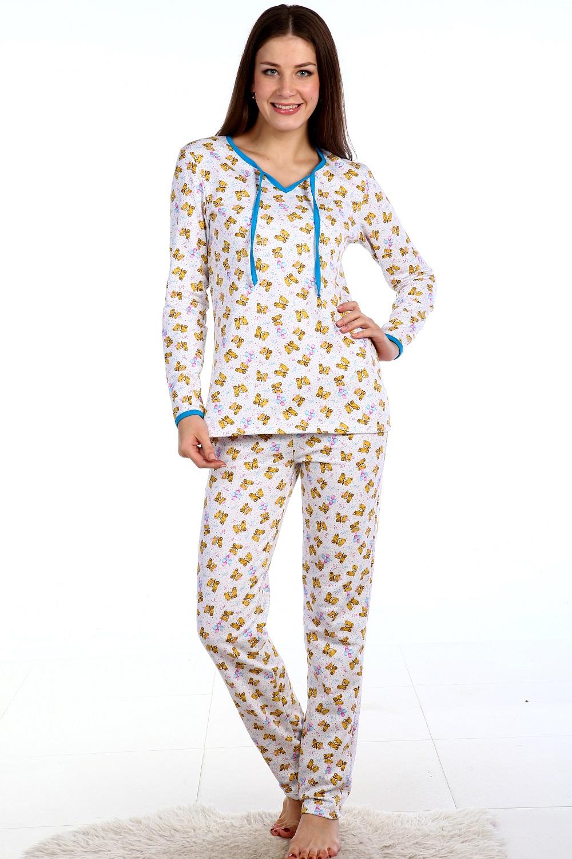 Пижама женская Янтарь кофта с длинным рукавом и брюкиДомашняя одежда<br><br><br>Размер: 40