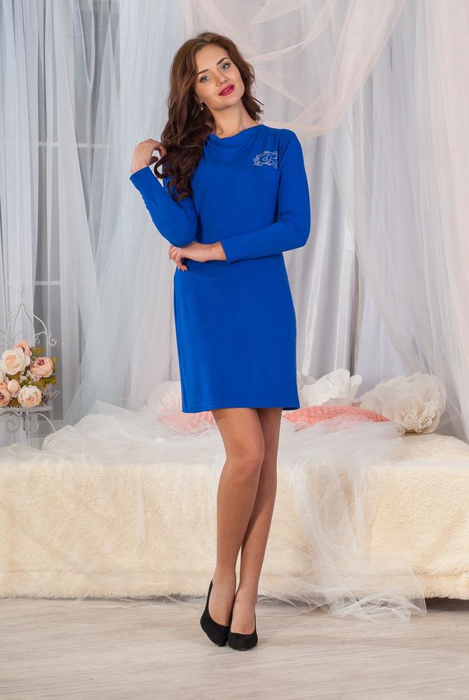 Платье женское Ангора с длинным рукавомПлатья и сарафаны<br><br><br>Размер: 40