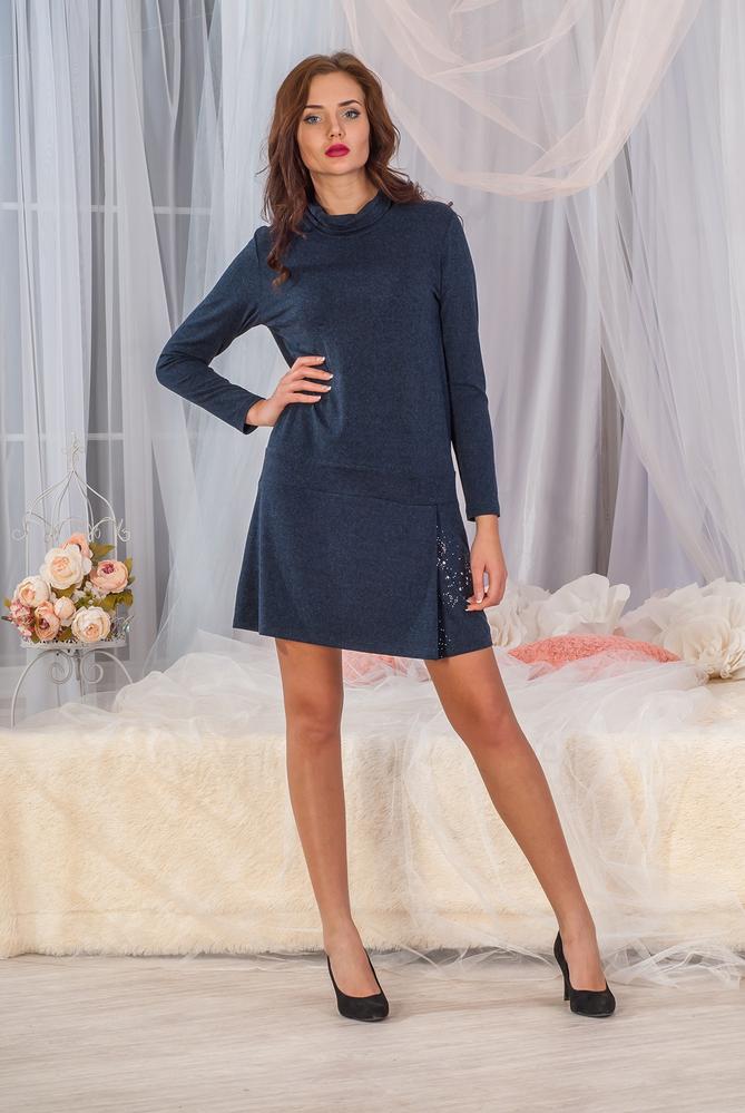 Платье-туника женское Гламур с длинным рукавомПлатья и сарафаны<br><br><br>Размер: 52