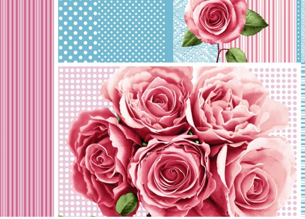 Полотенце вафельное Праздничные розы 5 штПодарки на Новый год и Рождество<br><br><br>Размер: 40х75