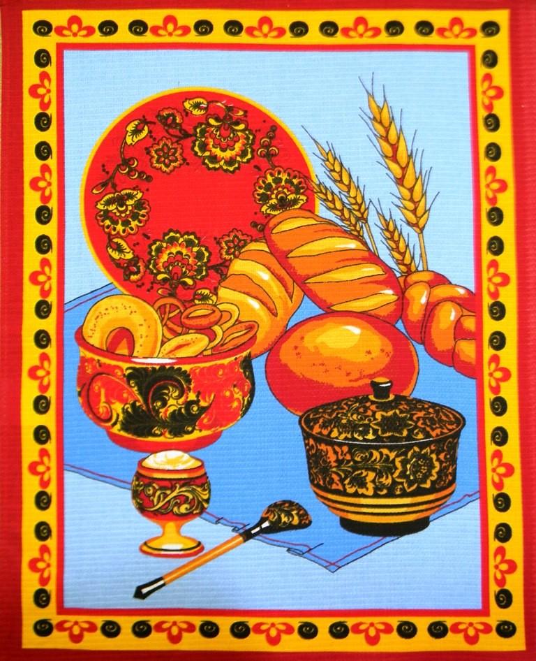 Полотенце вафельное Хлеб-соль 5 штПодарки на Новый год и Рождество<br><br><br>Размер: 50х60