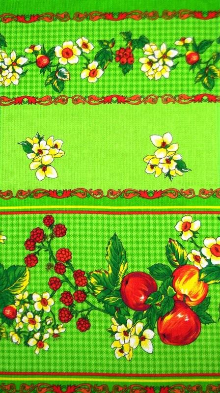 Полотенце вафельное Яблочко зелёное 5 штПодарки на Новый год и Рождество<br><br><br>Размер: 40х75