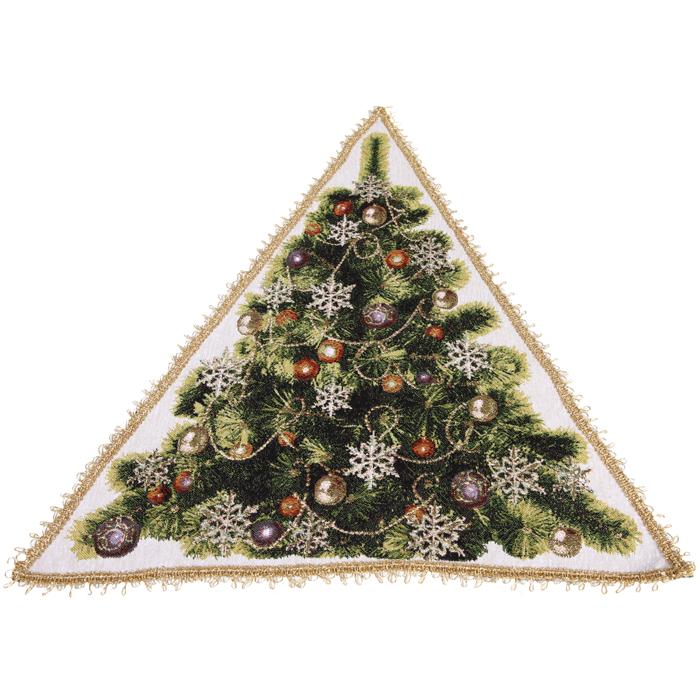 Салфетка гобеленовая ЕлочкаПодарки на Новый год и Рождество<br><br><br>Размер: 50х50 см.