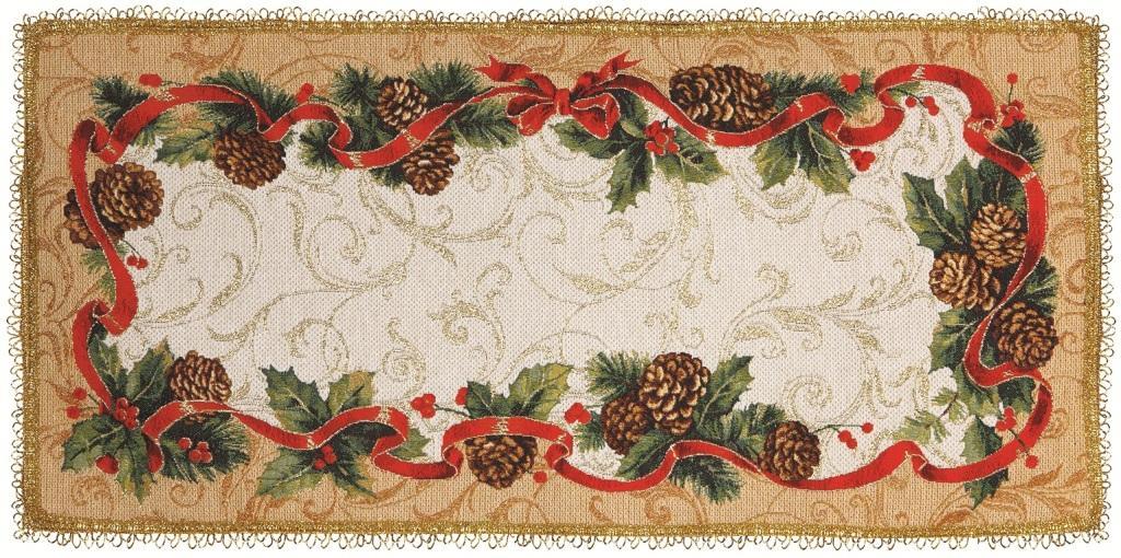 Cалфетка гобеленовая Шишкин вальсПодарки на Новый год и Рождество<br><br><br>Размер: 35х77 см