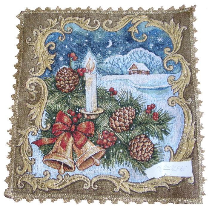 Салфетка гобеленовая Святки 1Подарки на Новый год и Рождество<br><br><br>Размер: 35х34 см