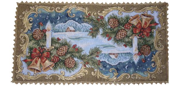 Салфетка гобеленовая Святки 2Подарки на Новый год и Рождество<br><br><br>Размер: 35х70 см