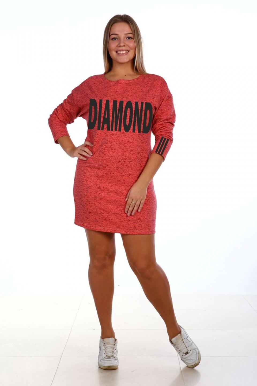 Туника женская Diamond с круглым вырезомТуники, рубашки и блузы<br><br><br>Размер: Бирюзовый
