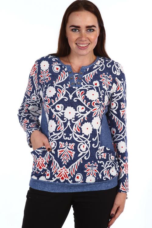 ТуникаГуппи с длинным рукавомТуники, рубашки и блузы<br><br><br>Размер: 56