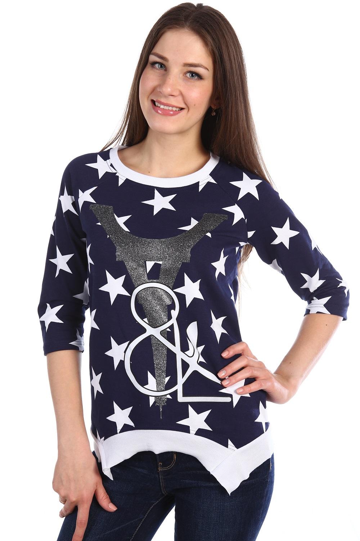 Туника женская Стася с круглым вырезомТуники, рубашки и блузы<br><br><br>Размер: 44
