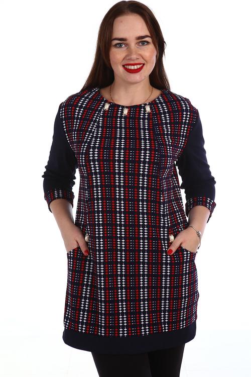 Туника Зева с рукавом 3\4Туники, рубашки и блузы<br><br><br>Размер: Красный