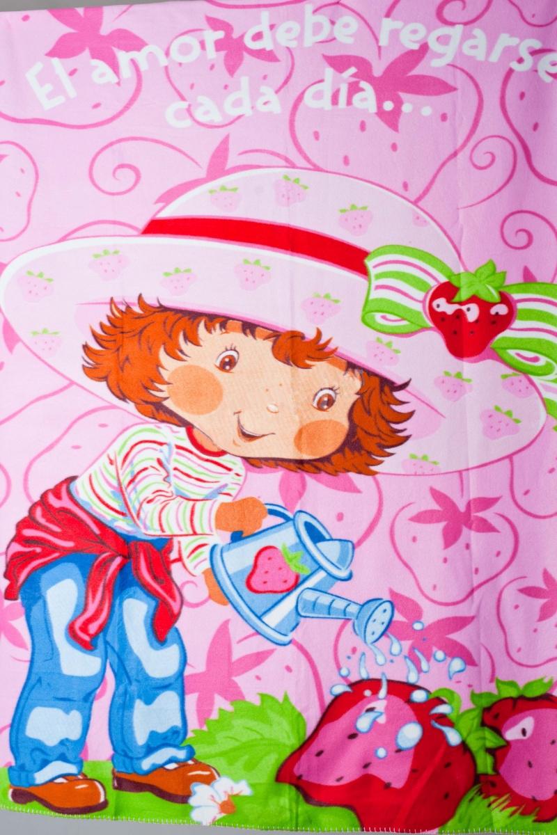Плед флисовый  Клубничная поляна детскийДетские покрывала, пледы и наволочки<br><br><br>Размер: 130х160