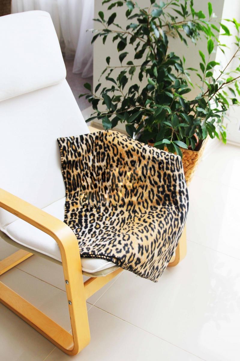 Плед флисовый  ЛеопардПледы<br><br><br>Размер: 180*220