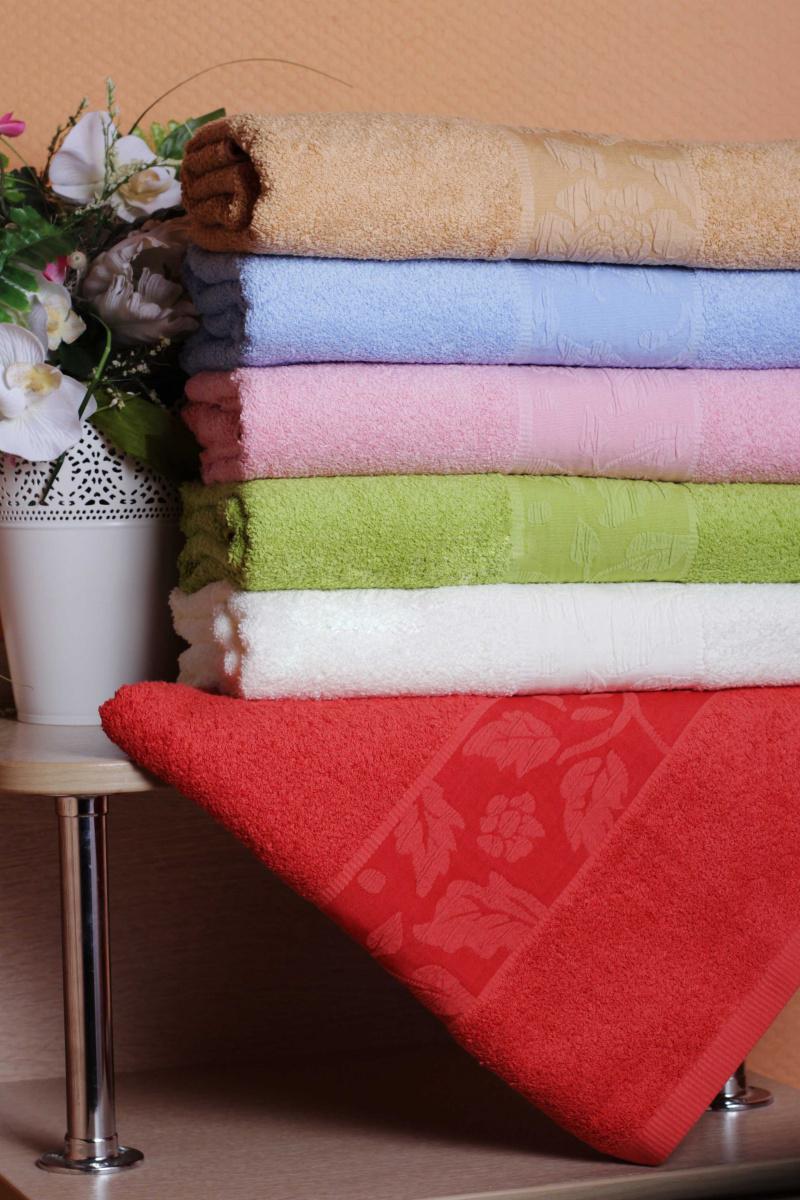 Полотенце Роза бордюрДля всей семьи<br><br><br>Размер: Розовый