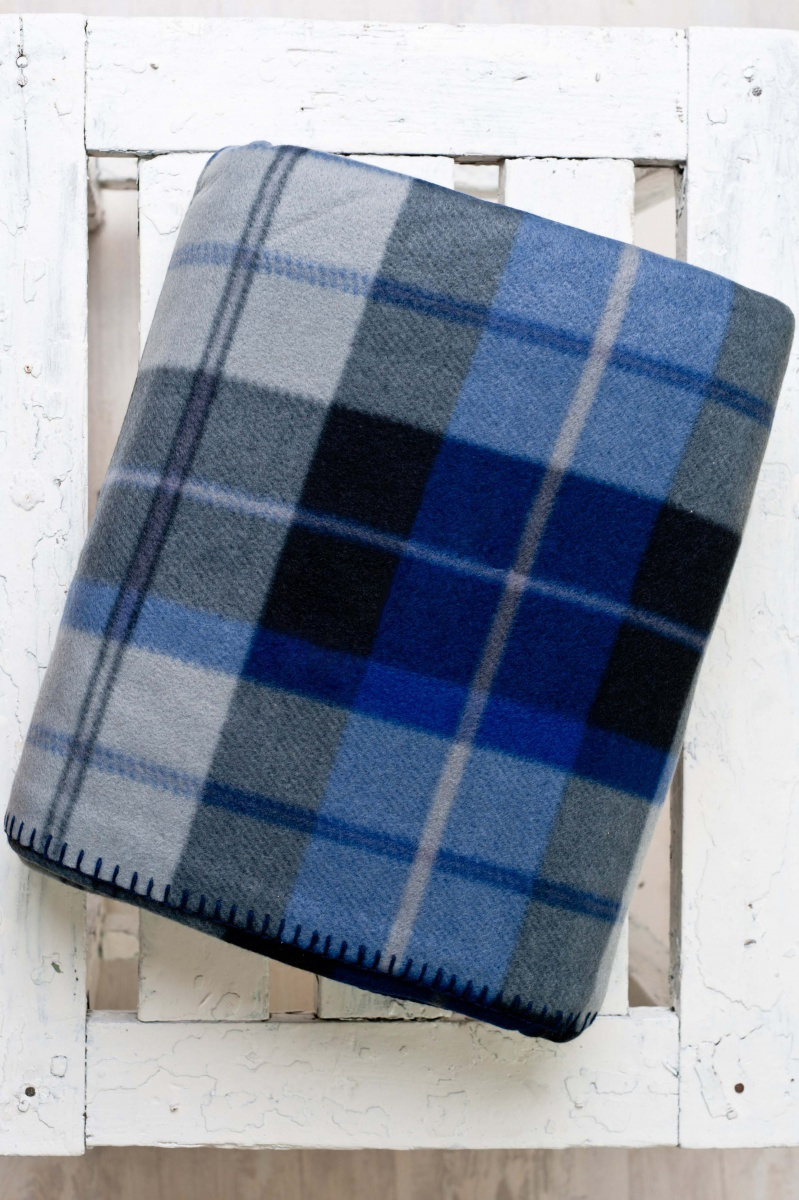 Плед флисовый  Шотландка-светлаяПледы<br><br><br>Размер: 220*240