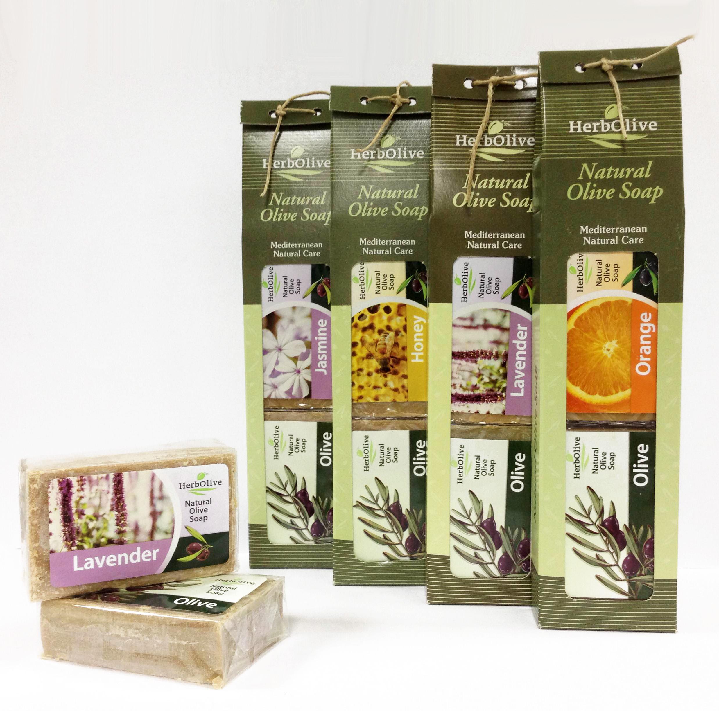 Мыло натуральное на оливковом масле (набор 2 шт.: оливковое масло + с ароматом)Уход за телом<br><br><br>Размер: Лаванда