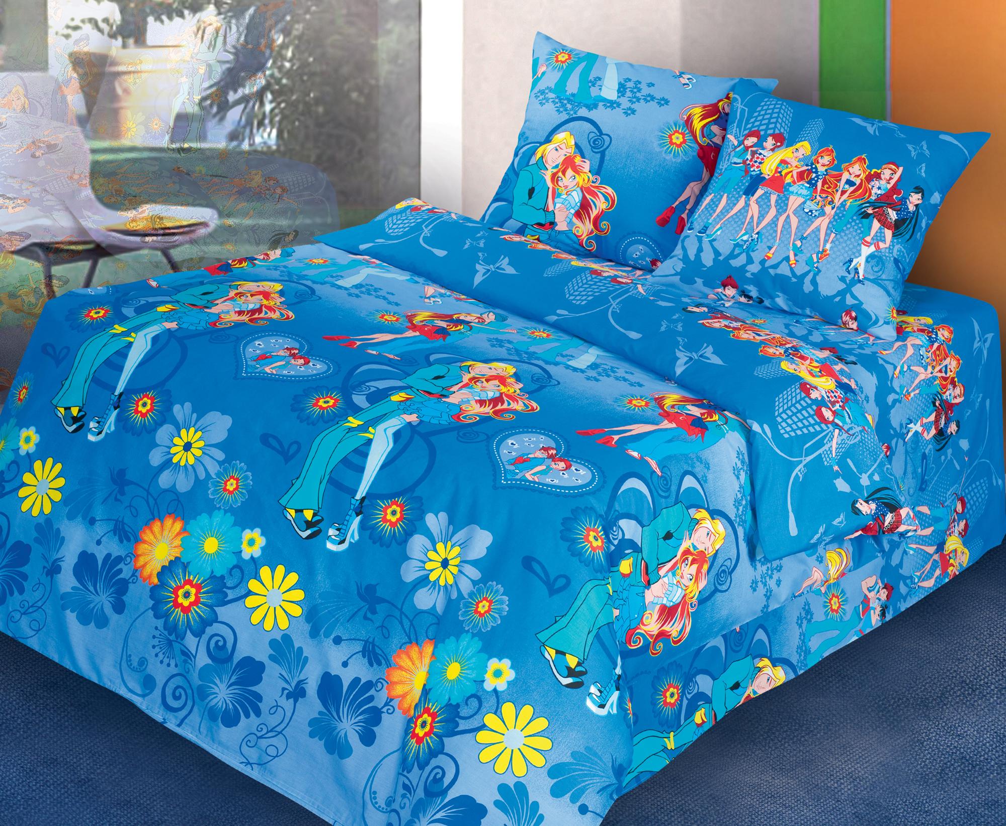 Обнимашки - комплект детского постельного белья из поплинаПоплин<br><br><br>Размер: 2 спальный, нав. 70х70
