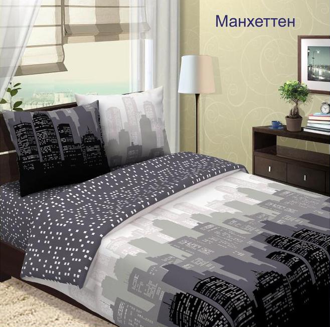 Комплект постельного белья МанхеттенБязь<br><br><br>Размер: 2сп. с европростыней (2 нав.)
