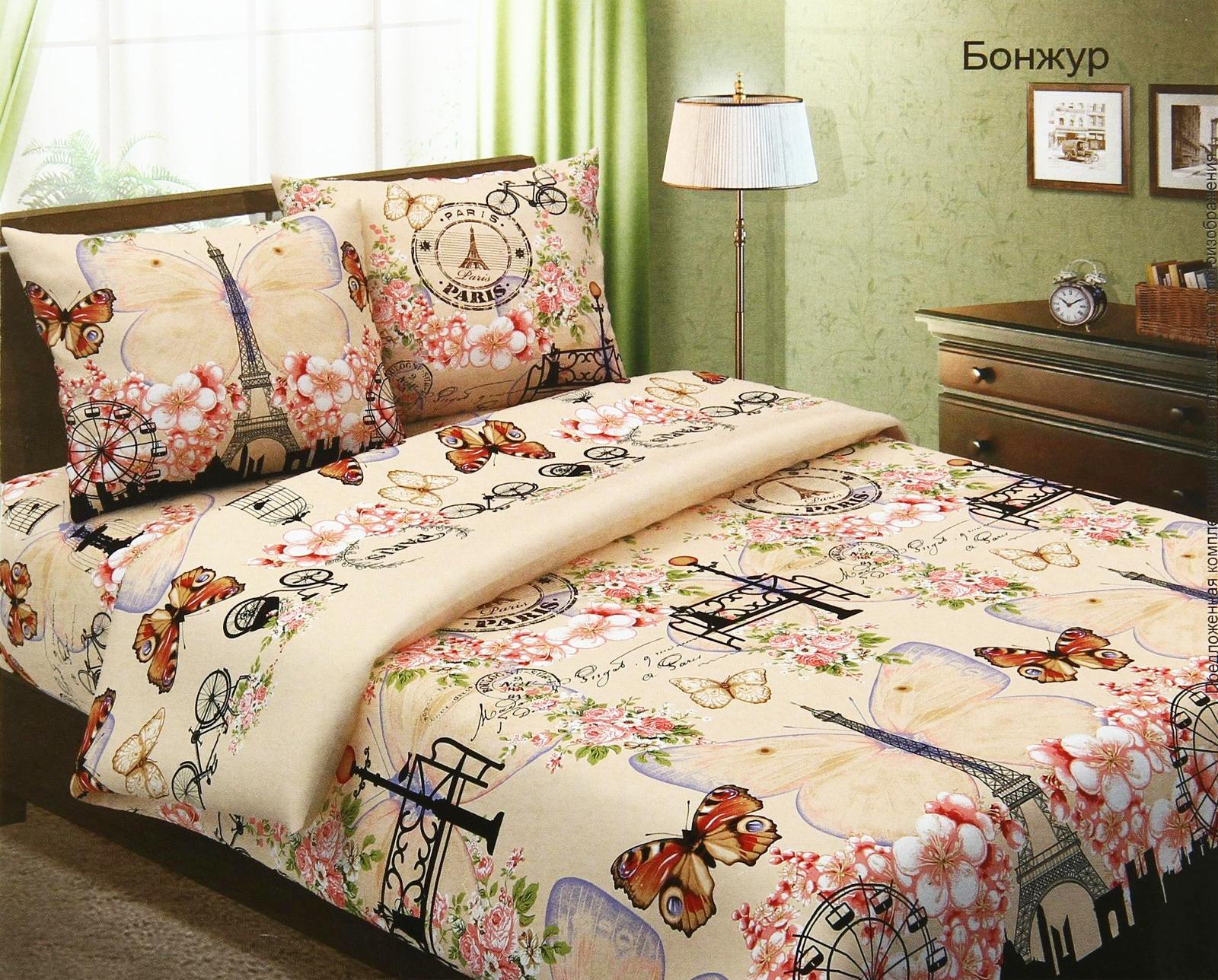 Комплект постельного белья БонжурБязь<br><br><br>Размер: Семейный(4 нав.)