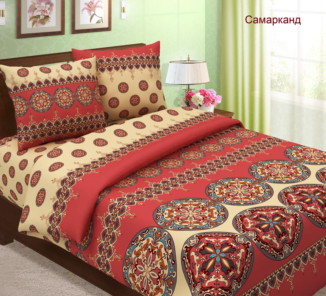 Комплект постельного белья СамаркандБязь<br><br><br>Размер: 2сп. с европростыней (2 нав.)