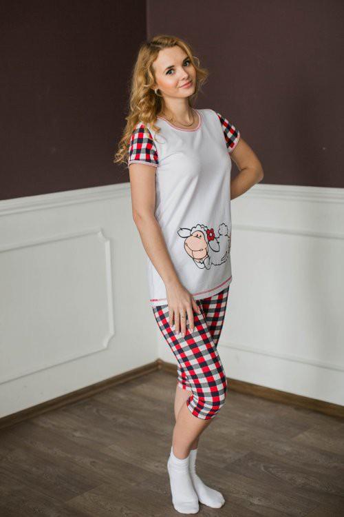 Костюм женский(туника+бриджи)  ОвечкаДомашние комплекты, костюмы<br><br><br>Размер: 52