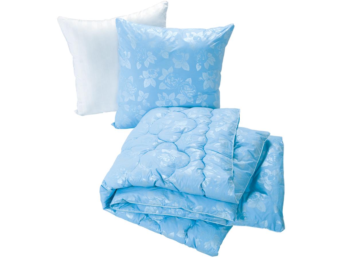 Набор для спальни Лебяжий пух (в тике) 1 одеяло + 2 подушкиОдеяла<br><br><br>Размер: 1,5-спальный
