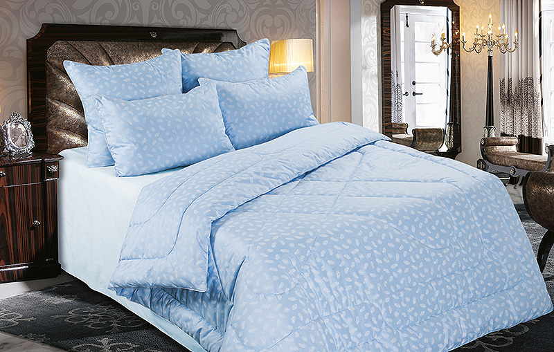 Одеяло Лебяжий пух (в тике)Одеяла<br><br><br>Размер: Евромакси (220х240)